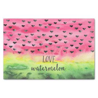 Watercolor Love Watermelon Hearts Tissue Paper