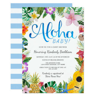 luau baby shower invitations announcements