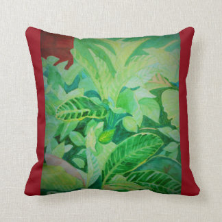 Watercolor Lush Jungle Panama House Cushion