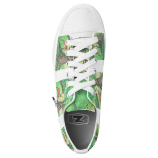 Watercolor magical forest printed shoes