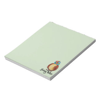 Watercolor Magical Owl With Rainbow Feathers Notepad