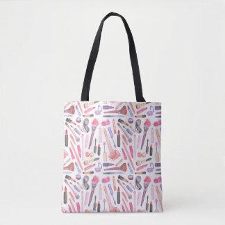Watercolor Makeup Tote Bag