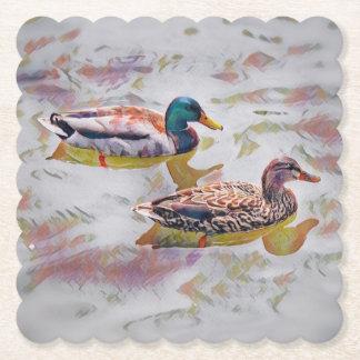 Watercolor Mallards Coasters