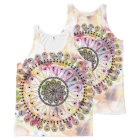 Watercolor Mandala All-Over Print Singlet