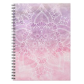 Watercolor Mandala Holistic Healing & Spiritual Notebook