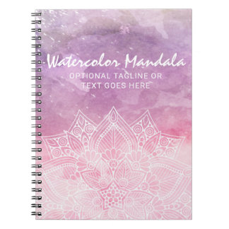 Watercolor Mandala Holistic Healing & Spiritual Notebook
