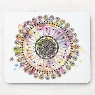 Watercolor Mandala Mouse Pad