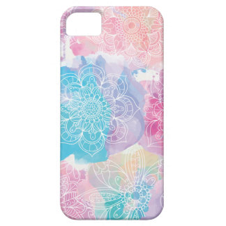 Watercolor mandalas colorful splashes boho barely there iPhone 5 case