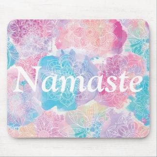 Watercolor mandalas colorful splashes boho mouse pad