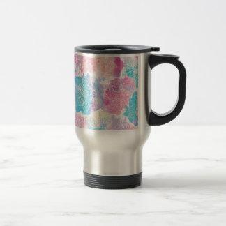 Watercolor mandalas colorful splashes boho travel mug