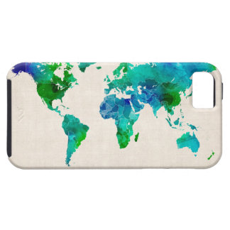 Watercolor Map of the World Map iPhone 5 Case