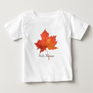 Watercolor Maple Leaf Baby T-Shirt