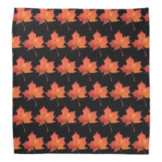 Watercolor Maple Leaf Bandana