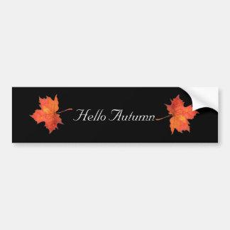 Watercolor Maple Leaf Bumper Sticker