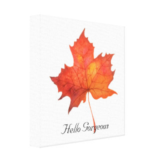Watercolor Maple Leaf Canvas Print
