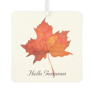 Watercolor Maple Leaf Car Air Freshener