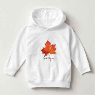 Watercolor Maple Leaf Hoodie