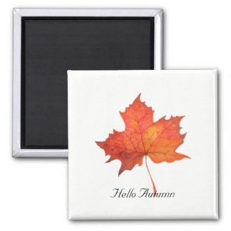 Watercolor Maple Leaf Magnet