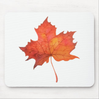 Watercolor Maple Leaf Mouse Pad