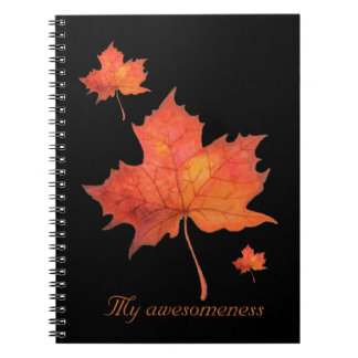 Watercolor Maple Leaf Notebooks