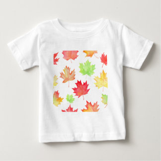 Watercolor Maple Leaf Pattern Baby T-Shirt