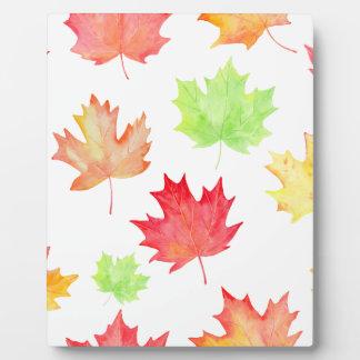 Watercolor Maple Leaf Pattern Plaque