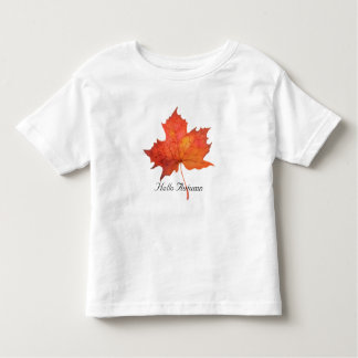Watercolor Maple Leaf Toddler T-Shirt