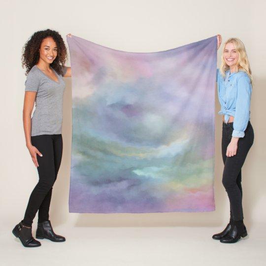 Watercolor Marble Decor   Colourful Rainbow Pastel Fleece Blanket