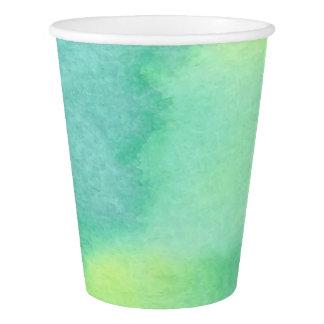 Watercolor Marine Greens Paper Cup