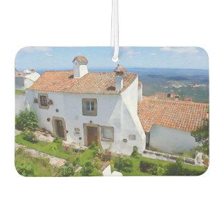 Watercolor Mediterranean house