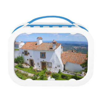 Watercolor Mediterranean house Lunch Box