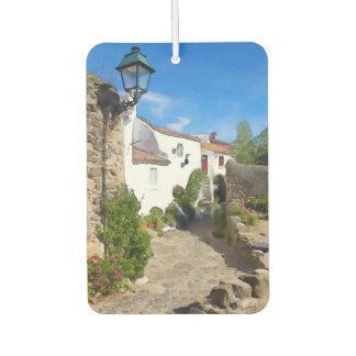 Watercolor Mediterranean village
