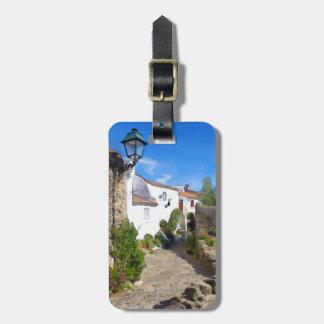 Watercolor Mediterranean village Luggage Tag