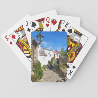 Watercolor Mediterranean village Playing Cards