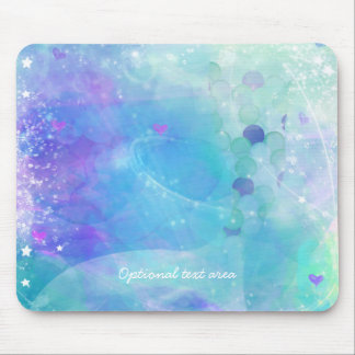 Watercolor Mermaid Tail Fantasy Enchanted Ocean Mouse Pad