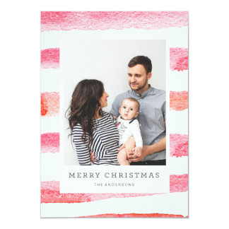 WATERCOLOR MERRIEST CHRISTMAS photo christmas Card
