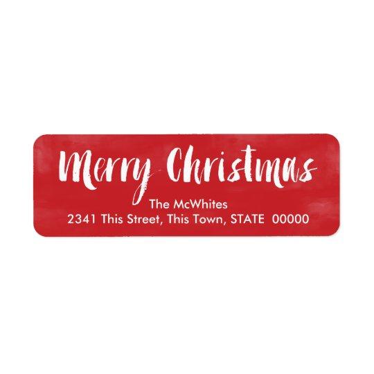 Watercolor Merry Christmas | Custom Address Labels