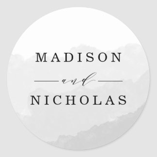 Watercolor Mist | Wedding Favor Stickers