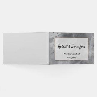 Watercolor modern elegant wedding themed guest book