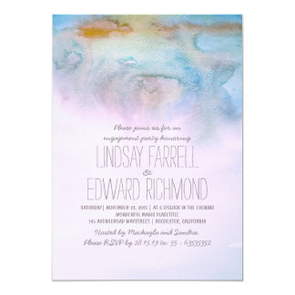 watercolor modern engagement party invitation