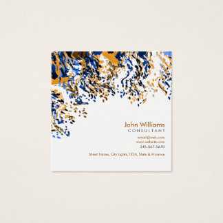 Watercolor Modern Nature Paints Brushstrokes Square Business Card