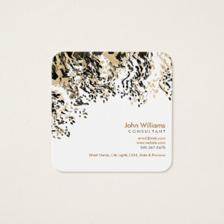 Watercolor Modern Nature Paints Rain Brushstrokes Square Business Card