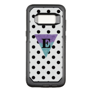 Watercolor Monogram B/W Polka Dot OtterBox Commuter Samsung Galaxy S8 Case
