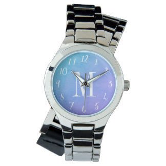 Watercolor Monogrammed Watch