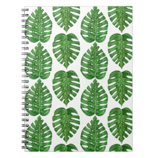 Watercolor Monstera Leaves Notebooks