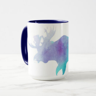 Watercolor Moose Mug