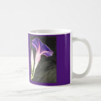 Watercolor morning glory flower basic white mug