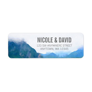 Watercolor Mountain Return Address Label