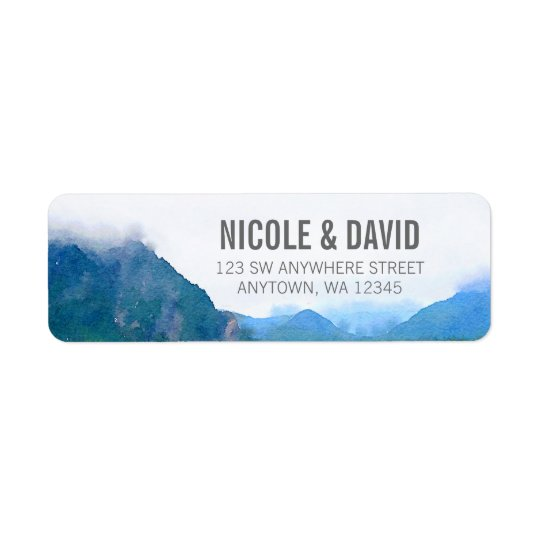 Watercolor Mountain Return Address Label