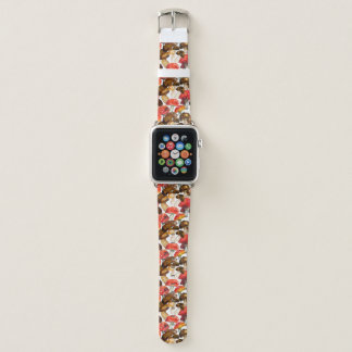 Watercolor mushrooms Cute fall pattern Apple Watch Band
